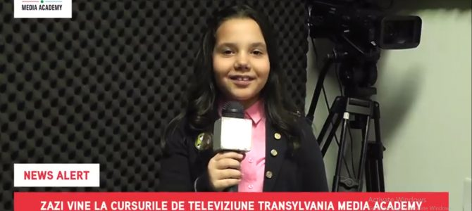 NEWS ALERT! Zazi s-a înscris la cursurile de televiziune Transylvania Media Academy